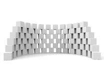 White Screens. 3d cubes, frames Royalty Free Stock Photos