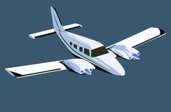 White screw plane Royalty Free Stock Image