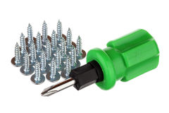 Screws and screwdriver Royalty Free Stock Photos