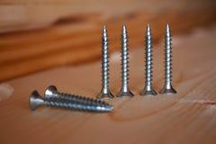 White screws Royalty Free Stock Photo