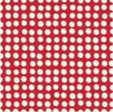 White scribbled dots on red. Illustration of white polka dots scribbled on red background Stock Photography
