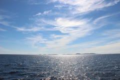 White sea. Embellish water in the white sea royalty free stock photos