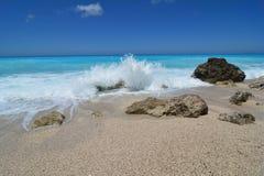 White sea foam of crashing waves Stock Photography