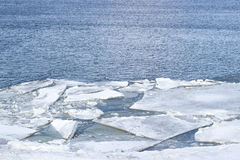 The white sea ice floes. The image of the White sea ice floes Stock Photography