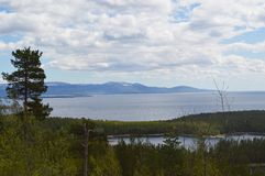 White Sea Kandalaksha Bay in June. Image of White Sea Kandalaksha Bay royalty free stock photo