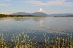White Sea Kandalaksha bay. Landscape with view on Kandalaksha Bay stock photography