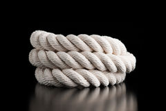 White sea rope Stock Photography