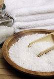 White Sea Salt. Spa scene Royalty Free Stock Image