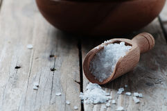White sea salt fot cooking Stock Images