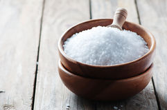White sea salt fot cooking Stock Photos