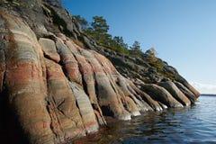 White sea shore Stock Image