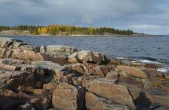 White sea shore Stock Images