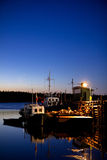 White Sea starry night Stock Photography