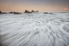 White Sea Wave Foam Stock Photo