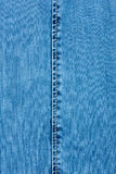 White seam on denim Royalty Free Stock Photography