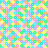 White seamless background of colored squares with rounded corners. Seamless pattern of colored elements in the form of squares with rounded corners, divided Stock Photo