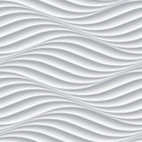 White seamless background panel with wavy texture Stock Photography