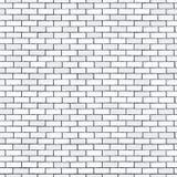 White seamless brick wall, pattern stonework background Royalty Free Stock Images