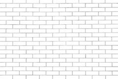 White seamless brickwall with repeating pattern use as background. White seamless brickwall with repeating pattern use as wall paper Royalty Free Stock Photography