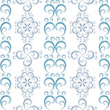 White seamless christmas pattern Stock Images