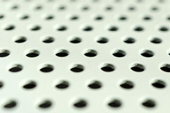 White seamless circle perforated Royalty Free Stock Photos