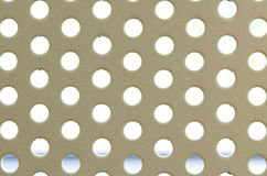 White seamless circle perforated. Metal grill pattern Royalty Free Stock Photos