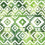 Seamless ethnic tropical pattern Royalty Free Stock Photo