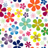 White seamless floral pattern vector illustration