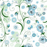 White seamless floral pattern Royalty Free Stock Photo