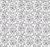 White seamless floral pattern with lace and pearls Stock Images