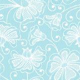 White seamless flower pattern Stock Photos