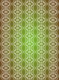 White seamless flower pattern in green background Royalty Free Stock Photo