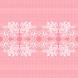 White seamless lace. Arts celebrations crafts decorative seamless lace pattern Stock Photography