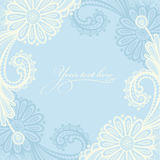 White seamless lace floral pattern. Royalty Free Stock Images