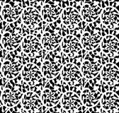 White seamless lace floral pattern. On black background Royalty Free Stock Images