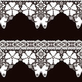 White seamless lace pattern Stock Photos