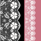 White seamless lace pattern Stock Image