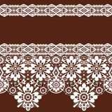 White seamless lace pattern Royalty Free Stock Photo