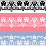 White seamless lace pattern Stock Photo