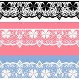 White seamless lace pattern Stock Photo
