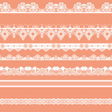 White seamless lace pattern Royalty Free Stock Images