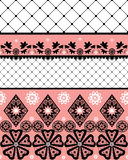 White seamless lace pattern with fishnet. On white background Royalty Free Stock Photos