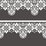 White seamless lace pattern Royalty Free Stock Photos