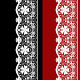 White seamless lacy lace pattern on black red Royalty Free Stock Photos