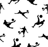 White seamless pattern with football player. royalty free illustration