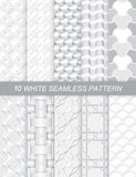 White seamless pattern. Illustration of white seamless pattern.ten pattern in one set vector illustration