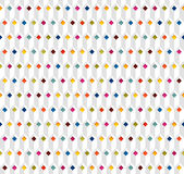 White seamless pattern with multicolor rhombuses. White vector seamless pattern with multicolor rhombuses Royalty Free Stock Photos