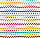 White seamless pattern with zigzags. White seamless relief pattern with color zigzags Stock Image