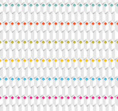 White seamless vector pattern. White seamless relief pattern with multicolor rhombuses Stock Photos