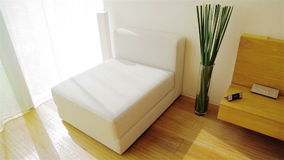 White Seat. Luxury Apartment Interior Royalty Free Stock Photography